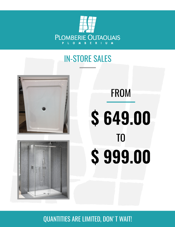 in store sales - shower base