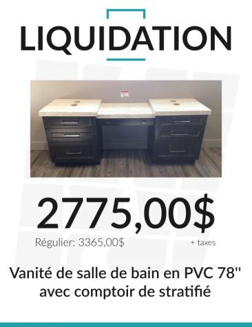 Vanité-salle de bain-liquidation