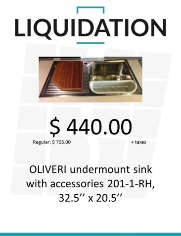 Oliveri undermount sink