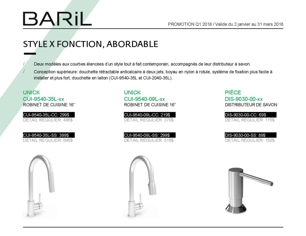 Promotion BARIL Q1 2018