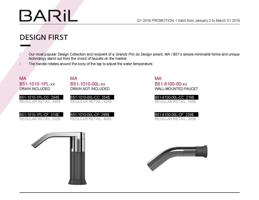 Promotion BARIL Q1 2018 En